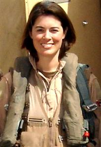 Capt. Nicole Malachowski was selected for the 2006 U.S. Air Force Air Demonstration Squadron, 'Thunderbirds,' team. She is the first female demonstration pilot on any U.S. military high performance jet team. She is from the 494th Fighter Squadron at Royal Air Force Lakenheath, England. (U.S. Air Force photo)