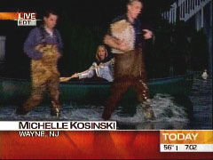 NBC News reporter Michelle Kosinski, on the scene of flooding in New Jersey live on the Today show