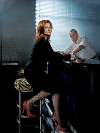 Maureen Dowd at Bar Centrale in Manhattan, with its proprietor, Joe Allen. Photo: Jeff Riedel for The New York Times