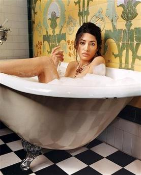 Wafah Dufour, niece of Osama bin Laden, poses in an undated publicity photo released on December 22, 2005, taken during a photo session for the January 2006 issue of GQ Magazine. (Jeff Riedel/GQ Magazine/Handout/Reuters)