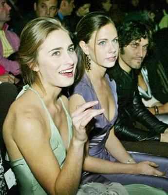Lauren Bush, Barbara Bush, and Vincent Gallo