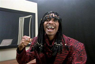 Dave Chappelle as Rick James.  Photo by: Comedy Central