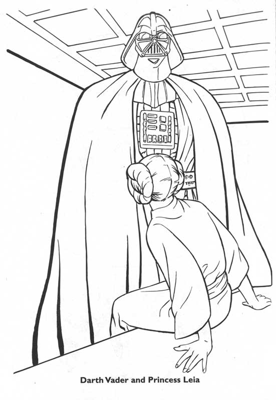 Darth Leia Coloring Book
