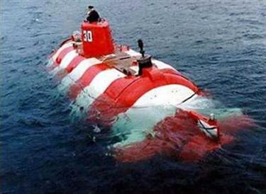 File picture of a Russian Priz mini-submarine.
