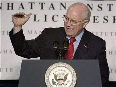 U.S. Vice President Dick Cheney is seen speaking at a luncheon in New York January 19, 2006. REUTERS/Chip East