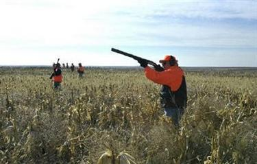 U.S. Vice President Dick Cheney hunts pheasant in South Dakota in this November 5, 2002 file photo. REUTERS/David Bohrer/White House/Handout