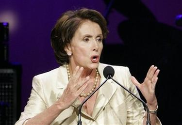 House Speaker Nancy Pelosi, delivers remarks at a gathering celebrating her election as the first woman speaker of the House of Representatives, Jan. 4, 2007, in Washington. The spotlight belonged to Nancy Pelosi on Thursday as she became the first woman in U.S. history to stand at the head of the House of Representatives, second in line to the presidency. (AP Photo/Manuel Balce Ceneta)