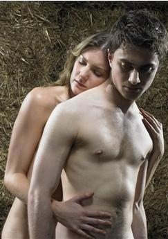 This photo, supplied by Peter Thompson Associates, is a recent but undated photo of Daniel Radcliffe, the boy wizard from 'Harry Potter' movies, who opens on the London stage in the Tony Award-winning drama 'Equus' on Feb. 27, 2007, poses with Joanna Christie. Previews begin on Feb. 16. The 17-year-old will perform nude in one scene. Radcliffe has ignited a bit of a media firestorm by posing for racy promotional photos. (AP Photo/Peter Thompson Associates, Uli Weber) .