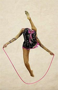 Russia's Evgeniya Kanaeva competes in the individual all-around qualification of the rhythmic gymnastics at the Beijing 2008 Olympic Games in Beijing. (AFP/Franck Fife)