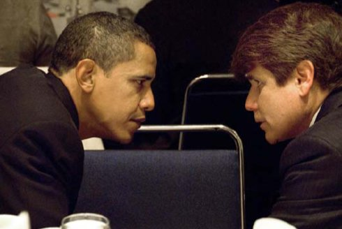 Gov. Rod Blagojevich and President-elect Barack Obama