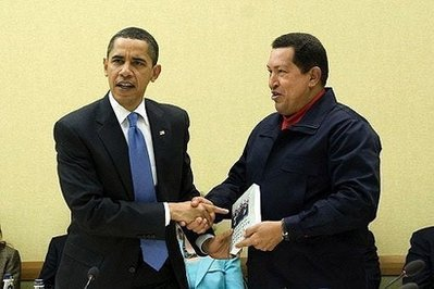Venezuela's President Hugo Chavez, right, hands President Barack Obama the book titled 'The Open Veins of Latin America' by Uruguayan writer Eduardo Galeano, during a UNASUR countries meeting at the Summit of the Americas on Saturday, April 18, 2009 in Port-of-Spain, Trinidad and Tobago<br /> . (AP Photo/Evan Vucci)&#8221;/></div> </p> <p> Winners will be announced Monday morning.</p> </p> <p><strong>Update</strong>:  <a href=