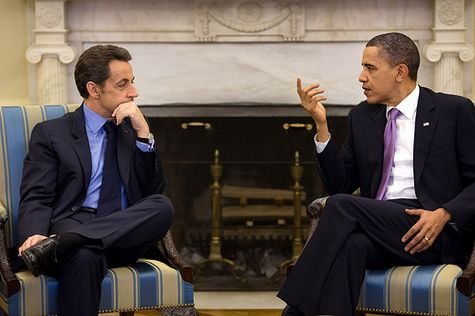 President Barack Obama meets with President Nicolas Sarkozy of France in the Oval Office, March 30, 2010. (Official White House Photo by Pete Souza)