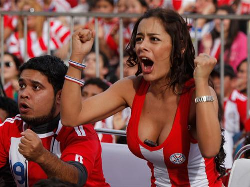 Cell Phone-Bosomed Paraguay Girl, Larissa Riquelme, Is The Star Of The World Cup So Far