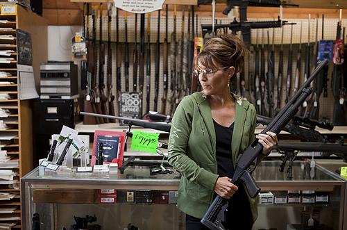Sarah and a gun