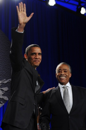 NEW YORK MINUTE: President Obama hails the Rev. Al Sharpton and the National Action Network last night in Midtown. The president took time out from his DC budget battle to be on hand at the Sheraton Hotel & Towers.