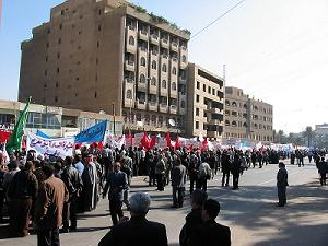Crowds Marching In Iraq