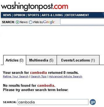 August 10, 2004 - Washington Post Search for Cambodia