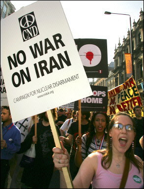 Anti-war protesters march through the streets of London in a mass protest against the US-led occupation of Iraq. Iraq's embattled Sunnis are of two minds about joining the political process as protesters in Europe demanded an end to foreign troop presence in Iraq two years after the US-led invasion.(AFP/Alessandro Abbonizio)
