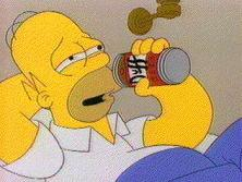 Homer Drinking