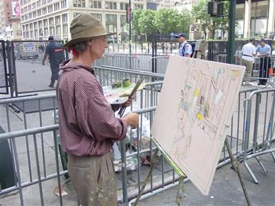 Stephen Stoller paints the RNC