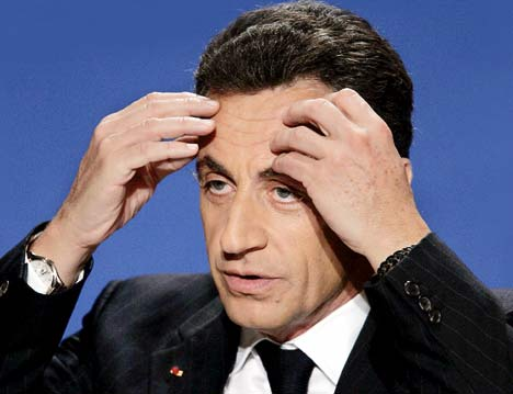 Now it's SARKOZY (