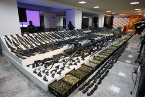 Some of the Arms Seized in Mexico
