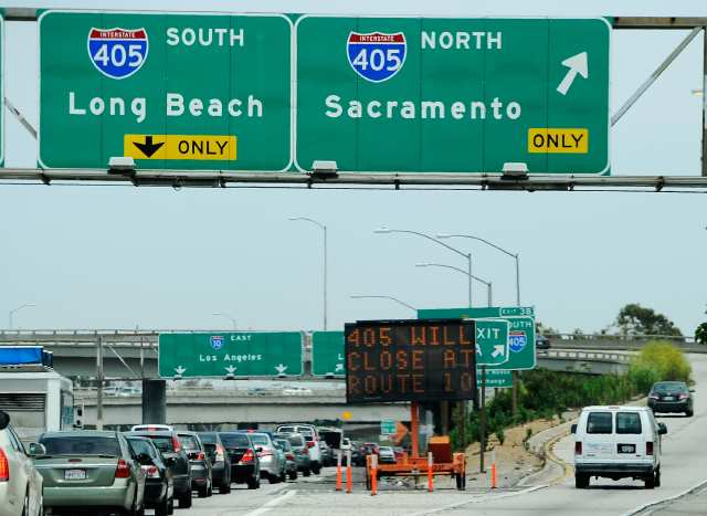 Los Angeles Prepares For Major Traffic Hassles As Highway 405 Closes For Weekend