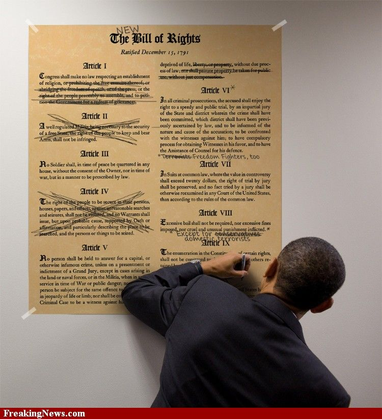 SCoaMF Editing the Bill of Rights
