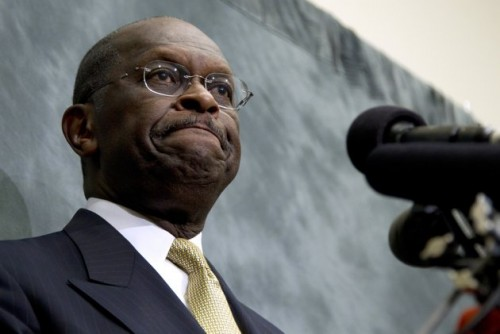 Republican presidential candidate Herman Cain pauses while speaking at the Congressional Health Caucus Thought Leaders Series, Wednesday, Nov. 2, 2011, on Capitol Hill in Washington. (AP Photo/Carolyn Kaster)
