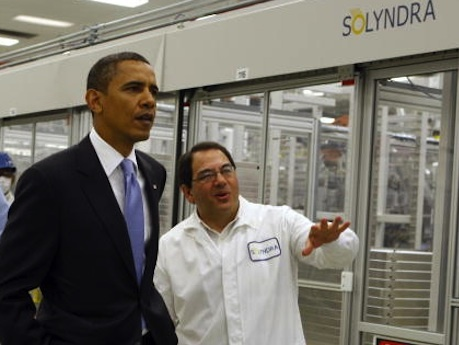 obama at solyndra