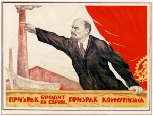 "Lening leading the Communists ""Forward"""