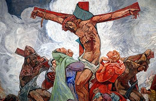 Fresque- Crucifixion