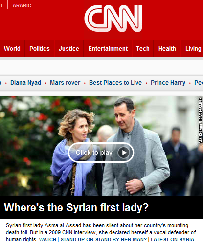 Here's a more lucid question: Do you really care where a mass murdering tyrannical dictator's wife is?