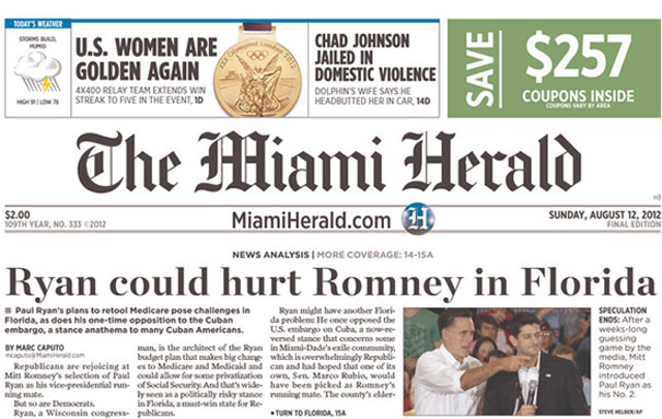 miami-herald-ryan-could-hurt-romney-in-florida