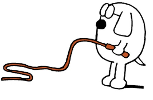 Dogbert with whip - Feature