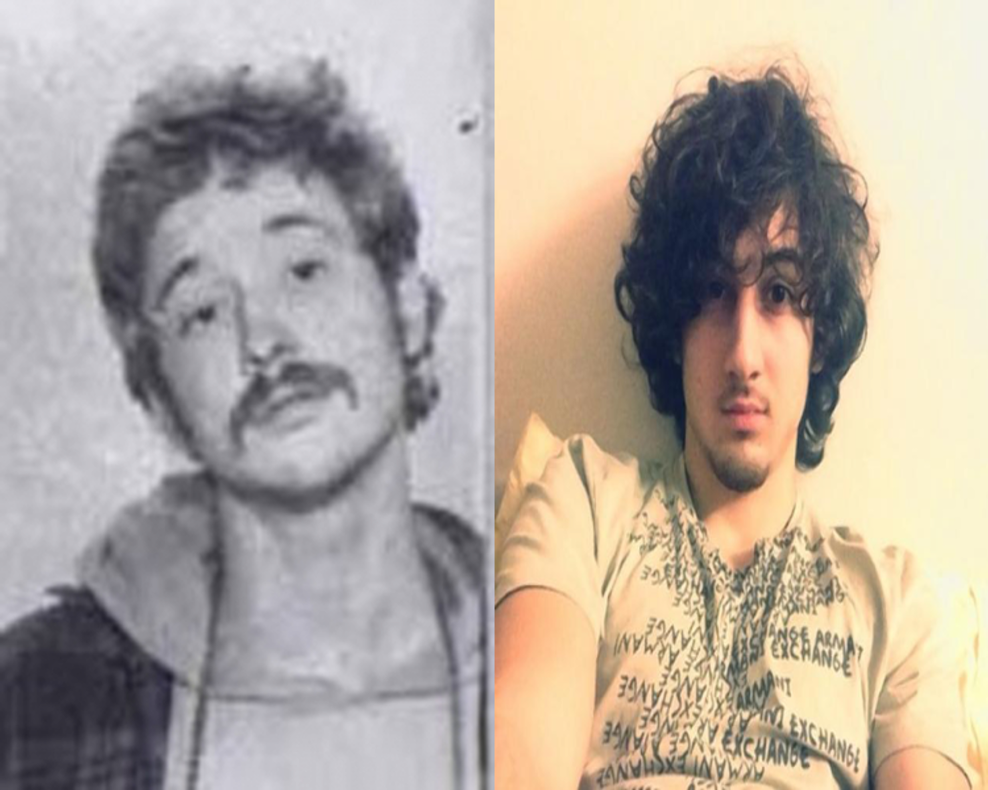 Bill Ayers and Dzokhar Tsarnaev side by side. Photo courtesy of Cold Warrior.