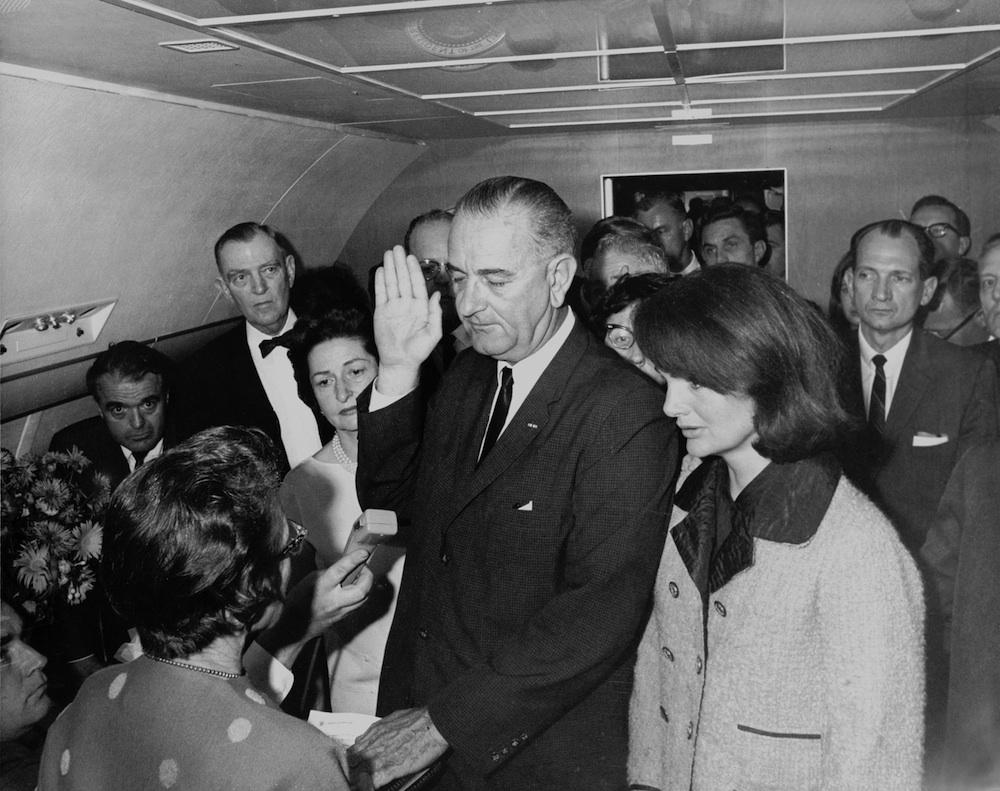 Lyndon B. Johnson taking the oath of office, November 1963