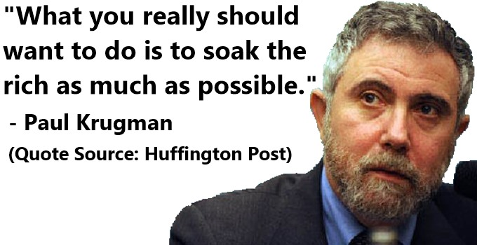 Krugman - Soak the Rich