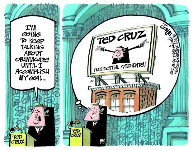 Cruz Goal Cartoon