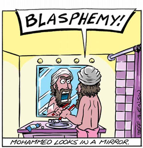 Muhammad looks in mirror