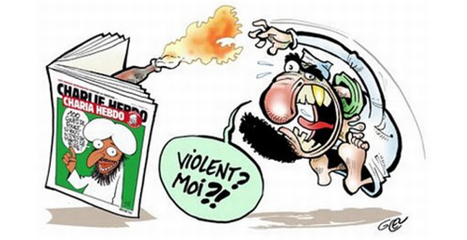 Muslim Terrorist Attacking Charlie Hebdo
