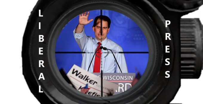 Liberal Press vs. Scott Walker