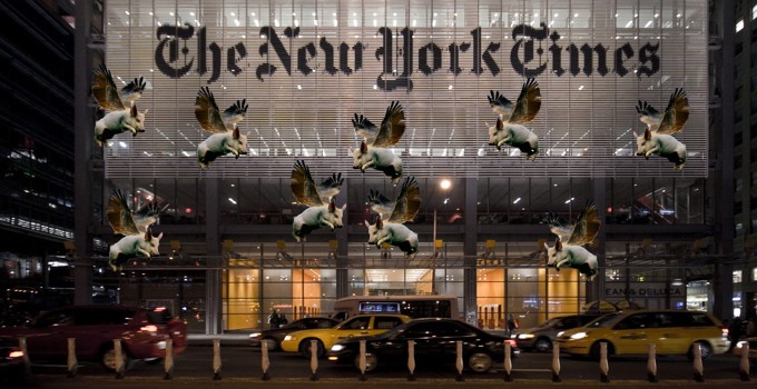 Pigs fly at NYT
