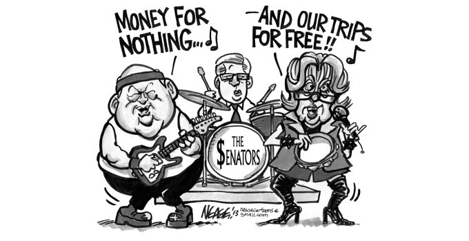 Senators Cartoon
