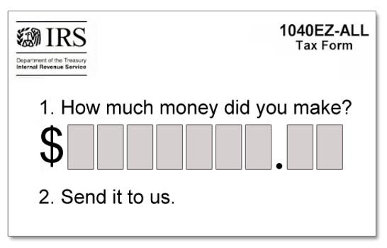 Tax Form Gag