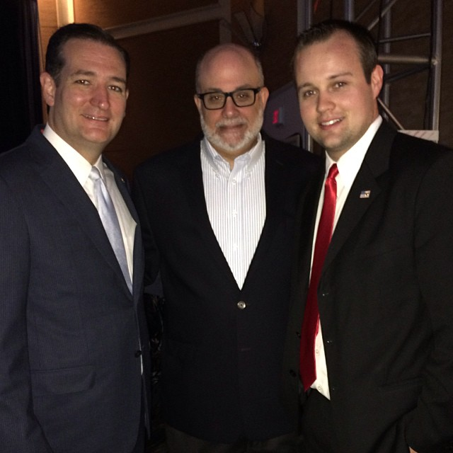 Ted Cruz and Mark Levin with Josh Duggar