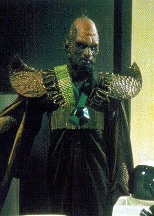 A Draconian from the Dr. Who TV series