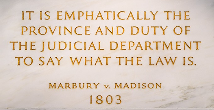 SCOTUS Quote - Marbury v. Madison