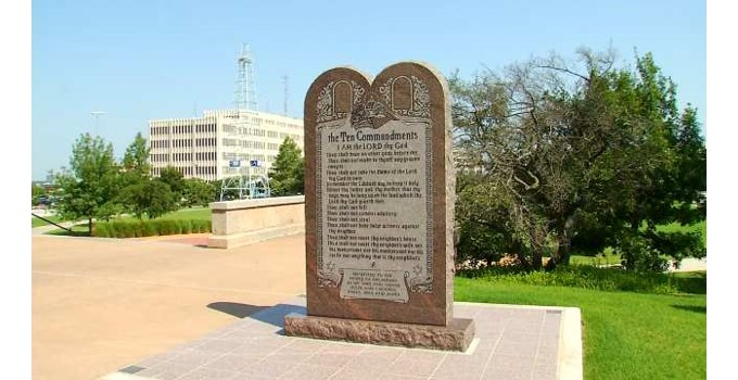 Ten Commandments monument at Oklahoma capitol