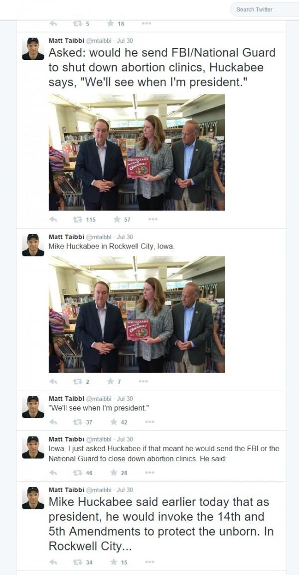 Matt Taibbi Tweets